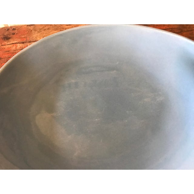 Vintage Pottery Palette Shaped Blue Glazed Platter For Sale In Los Angeles - Image 6 of 8