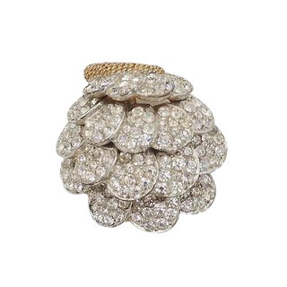 Circa 1965 Boucher Pavé Rhinestone Pin For Sale