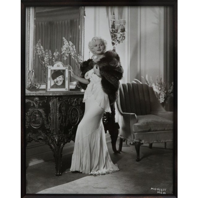 Art Deco George Hurrell Original Signed Photograph of Hollywood Actress Jean Harlow For Sale - Image 3 of 7
