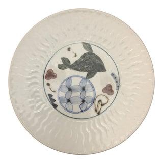 Vintage Rick Hensley Porcelain Handmade Plate For Sale
