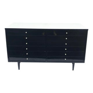 Mid-Century Black and White Dresser by American of Martinsville For Sale