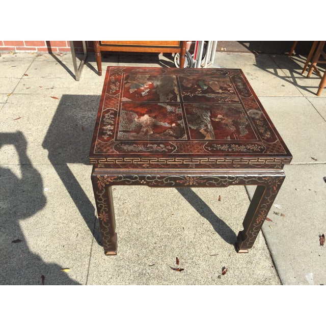 Baker Furniture Chinoiserie Side Table - Image 8 of 8