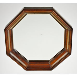 Vintage Wood Framed Octagonal Wall Mirror Preview
