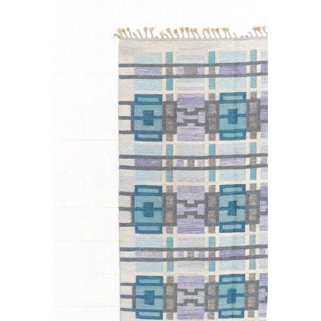 Scandinavian Modern Judith Johansson Tapestry Rug - 4'5'' X 6'8'' For Sale - Image 4 of 11