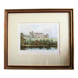 """1880 English Traditional Estate Print, """"Worsley Hall"""" For Sale"""