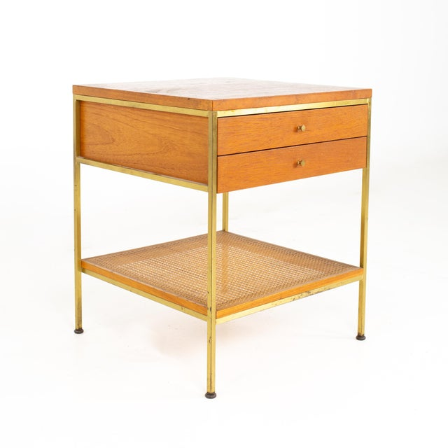 Paul McCobb for Calvin Group Mid Century Oak and Brass Nightstand For Sale - Image 13 of 13