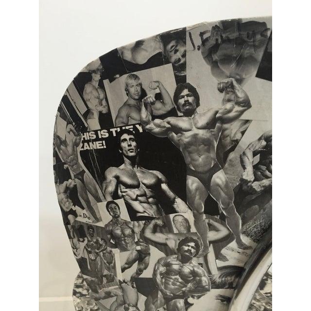 Bodybuilder Decoupage Modernist Chair - Image 9 of 11