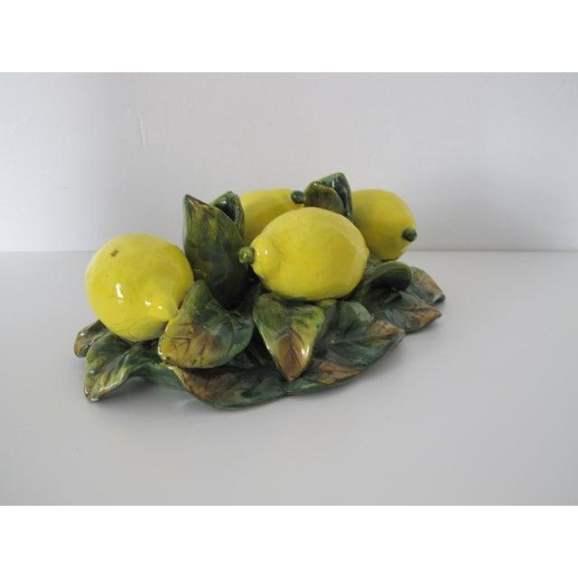 Majolica Lemon Candle Centerpiece - Image 5 of 7