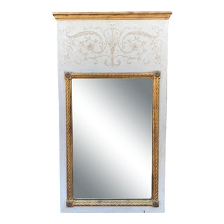Palladio Hollywood Regency Trumeau Mirror For Sale