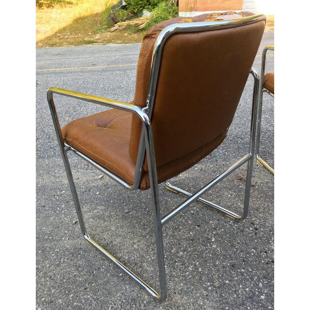Chrome ChromCraft Tubular Chrome Dining Chairs - Set of 4 For Sale - Image 7 of 9