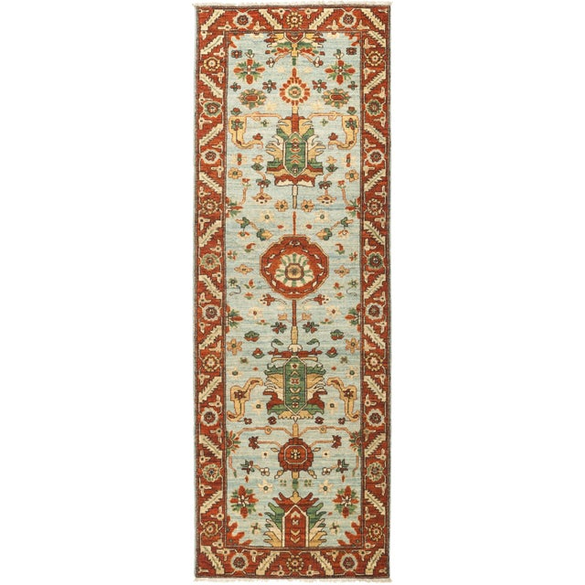 "Serene, Serapi Area Rug - 2' 8"" X 8' 0"" For Sale - Image 4 of 4"