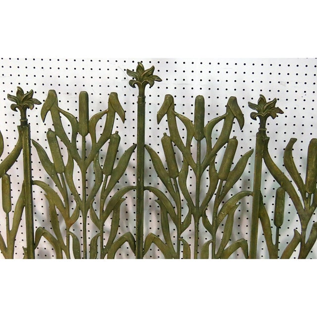 Art Deco distressed painted fireplace screen.