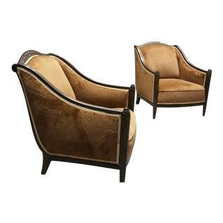 Paul Follot Club Chairs - A Pair
