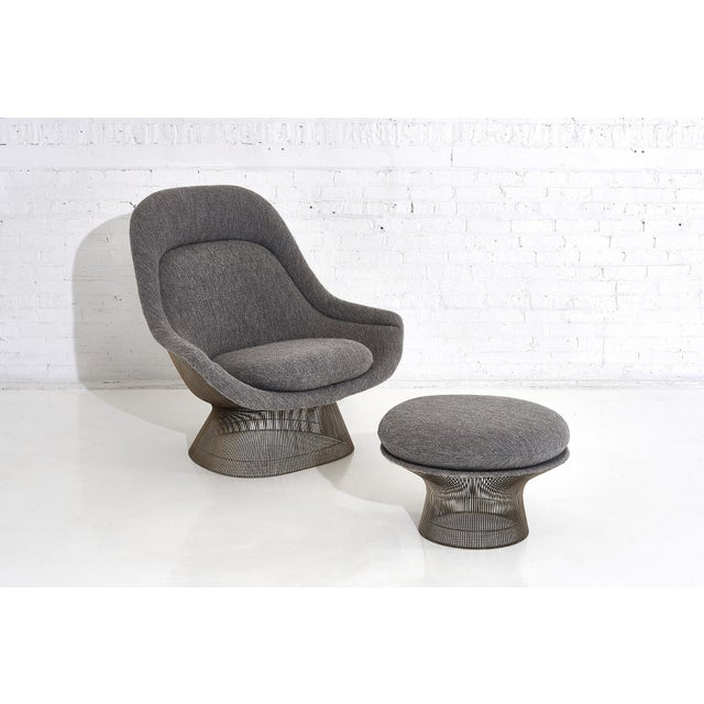 Warren Platner for Knoll Lounge Chair With Ottoman For Sale - Image 11 of 11