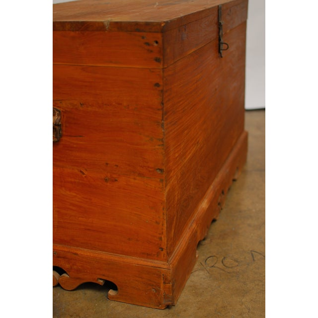 British Colonial Teak Travel Trunk/Chest - Image 5 of 9