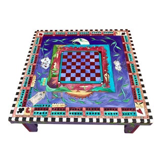 Sticks Hand-Painted Game Coffee Table For Sale