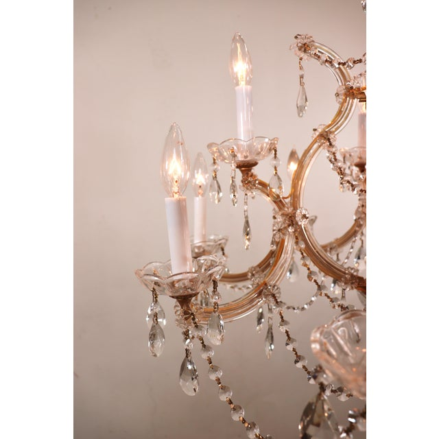 Vintage Maria Theresa Crystal Chandelier For Sale - Image 4 of 13