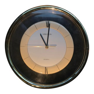 Vintage Memphis Lucite Modern Verichron Wall Clock For Sale