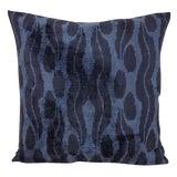 Image of XL Navy Blue Silk Velvet Cintamani Accent Euro Pillow For Sale