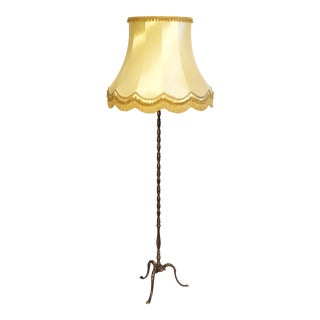 French Brass Floor Lamp For Sale