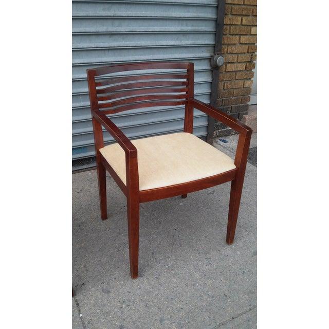 Original Knoll arm chairs designed by Joseph and Linda Ricchio. Very slick design. Linda and Joseph Ricchio are both...