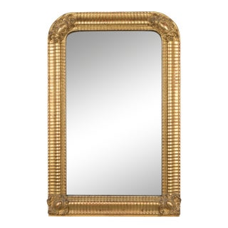 19th Century Louis Philippe Style Giltwood Gesso Mirror For Sale