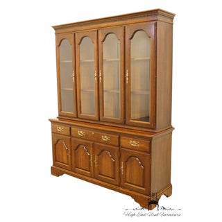 """Cresent Solid Cherry 64"""" Breakfront China Cabinet Preview"""