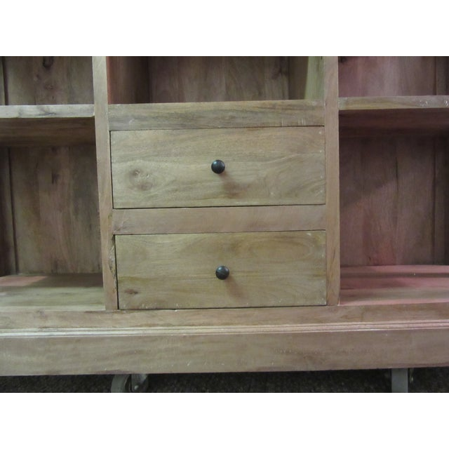 Large French Country Open-Front Cupboard For Sale In Philadelphia - Image 6 of 10