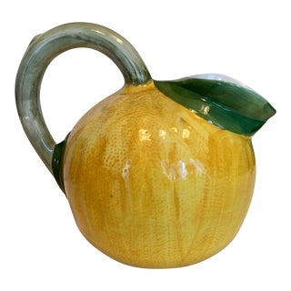 Ceramic Lemon Shaped Pitcher For Sale