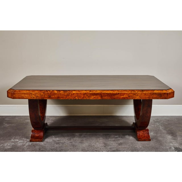 Early 20th Century Early 20th C. French Colonial Art Deco Dining Table For Sale - Image 5 of 11
