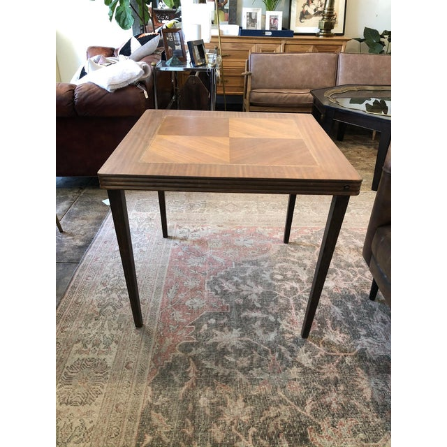 Vintage Mid Century Folding Card Table For Sale - Image 13 of 13