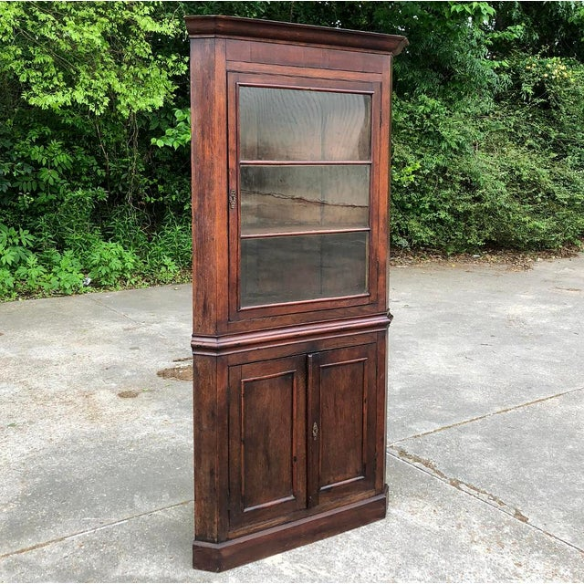 19th Century French Louis Philippe Corner Cabinet For Sale - Image 4 of 13
