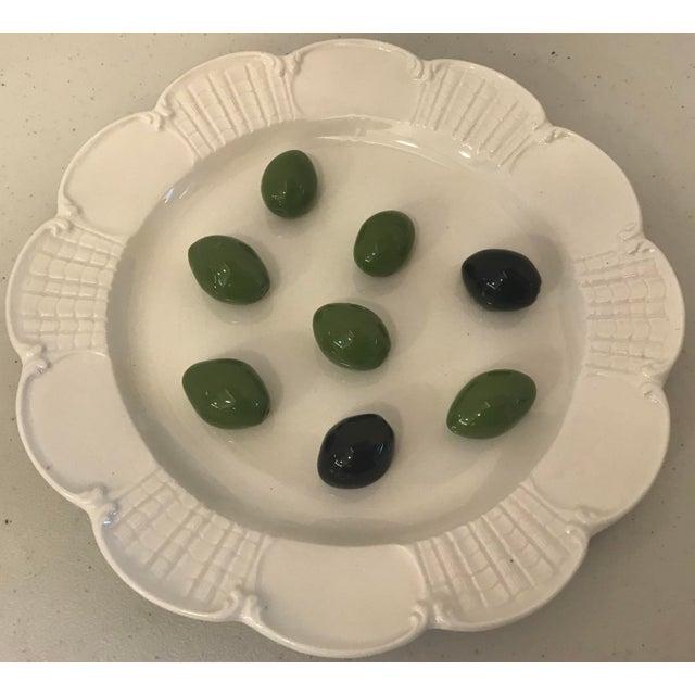 Italian Este Trompe L'Oeil Olive Plate For Sale - Image 4 of 10