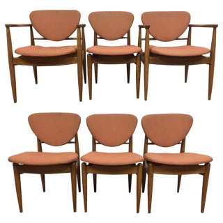 Finn Juhl Style Dining Chairs - Set of 6 For Sale