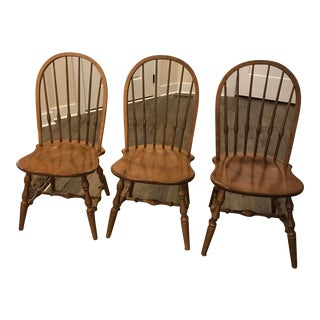 1980s Vintage Ethan Allen Chairs- Set of 3 For Sale