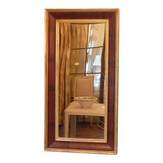 19th C. Gilded Mahogany Mirror For Sale