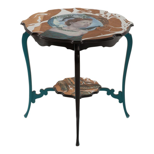You Are a Vision, Hand-Painted Side Table by Atelier Miru For Sale