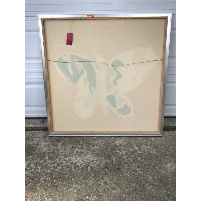 Tom Tru for Raymore MCM Serigraph Butterfly Print For Sale - Image 9 of 13