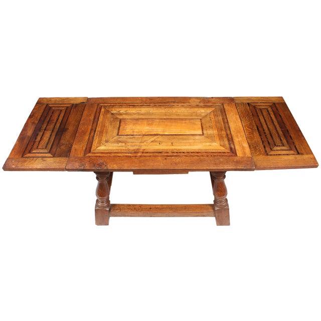 1920s Cherry Mahogany & Oak Coffee Table - Image 1 of 7