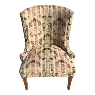 Antique Floral Pattern Side Chair