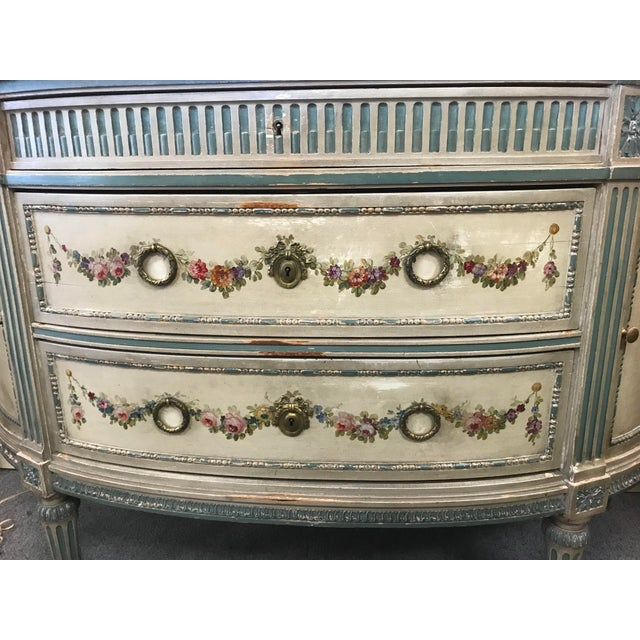 19th Century French Marble Top Demilune Chest For Sale - Image 9 of 10