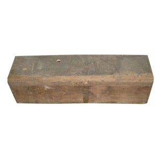 Rustic Wooden Tool Box With Rusty Latch