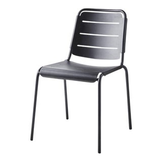 Cane-Line Stackable Copenhagen City Chair, Lava Gray For Sale
