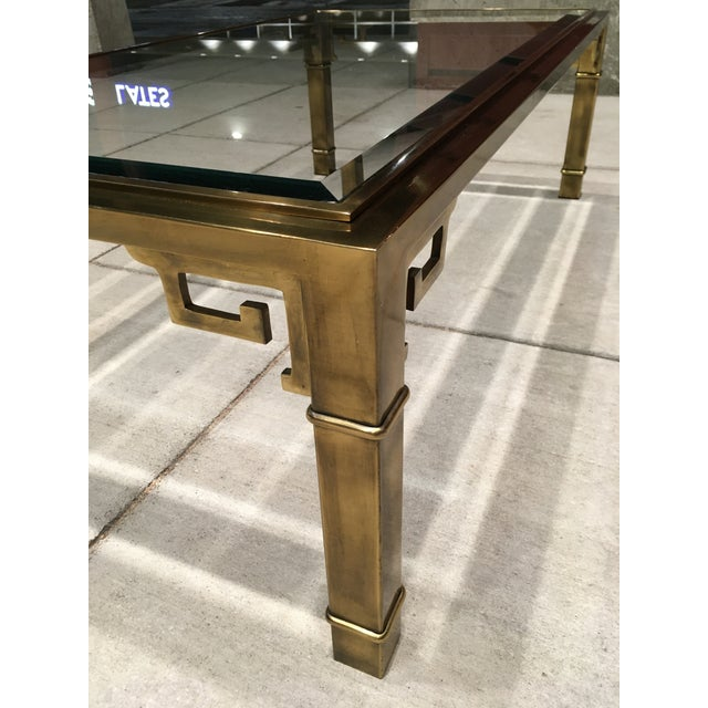 Hollywood Regency Mid-Century Greek Key Coffee Table by Mastercraft For Sale - Image 3 of 13