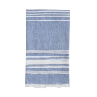 Blue Chambray Kitchen Towel For Sale