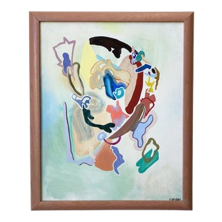 """""""Place"""" Contemporary Abstract Oil Painting by Avery Cordray, Framed For Sale"""
