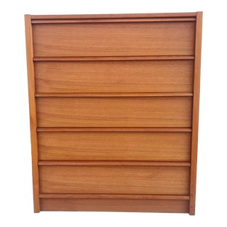 Scandinavian Modern Teak Lowboy Dresser For Sale