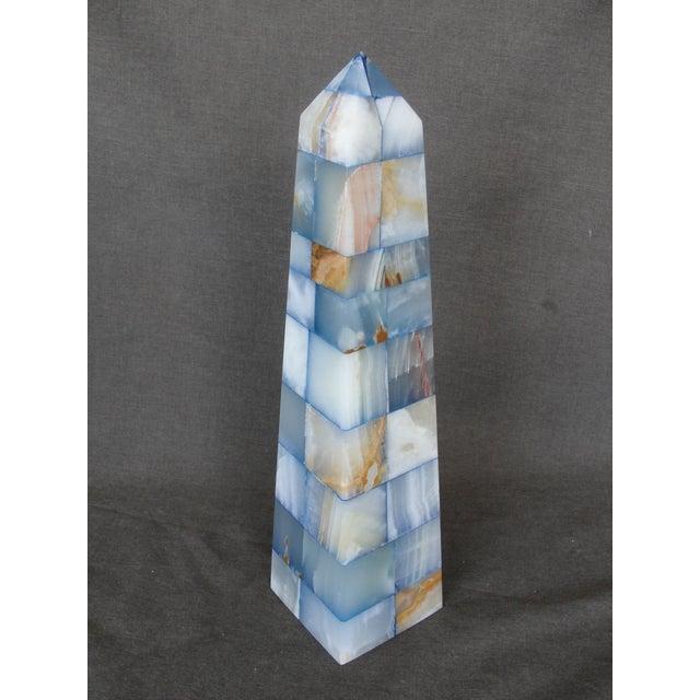Blue & Brown Onyx Obelisk - Image 2 of 7