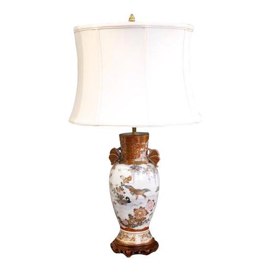 Japanese Satsuma Ware Vase Lamp For Sale
