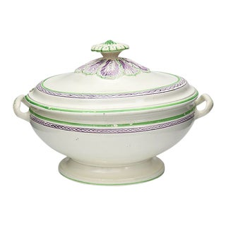 Antique English Leeds Creamware Tureen - C. 1820